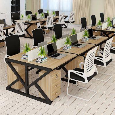 2020年新款職員電腦辦公桌6人四人位桌椅組合簡約辦公桌屏風卡座雙人辦公桌