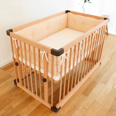 Faroro全棉纱婴儿床防撞床围套件宝宝床上用品纯棉原色床品S