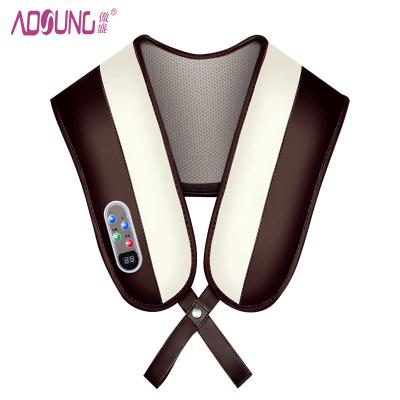 傲盛(AOSHENG) 按摩披肩 S1_1 捶打按摩 59种模式 12种力度 支持温热功能 肩背敲敲乐 棕色