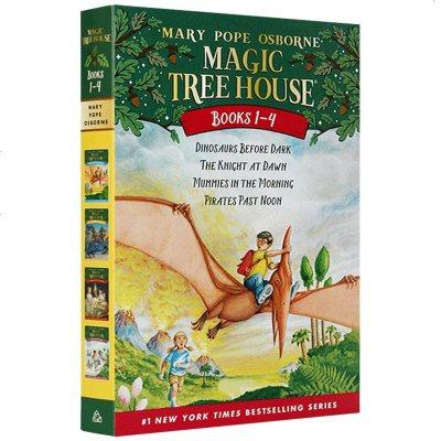 神奇樹屋 英文原版兒童繪本 Magic Tree House 1-4冊 神奇的樹屋英文版 進口美國小學故事章節橋梁書