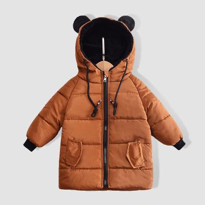寶寶反季衣服新款兒童棉衣中長款男女童棉服2018新款冬裝外套棉襖
