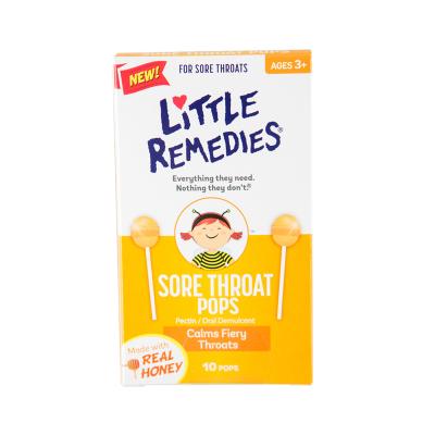 【潤喉止咳】Little Remedies 天然蜂蜜棒棒糖 嬰兒營養素 10支裝/盒 3歲以上