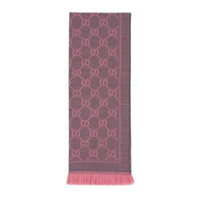 GUCCI古馳孔雀翎歐美時尚新款冬季女士羊毛圍巾提花GG圖案 133483 3G200 1272