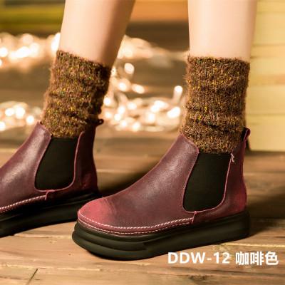 韓版冬新款高情侶棉線堆堆襪潮襪保暖毛線襪韓版月子襪