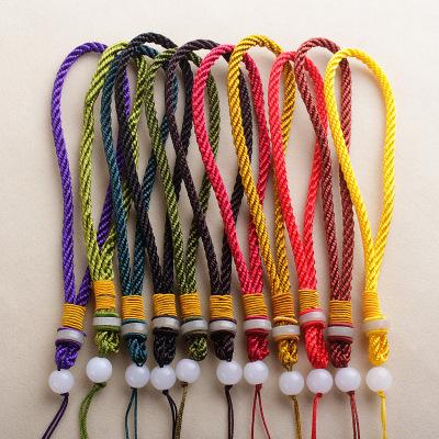 手工编织璎珞绳手把件绳DIY文玩把件千眼菩提手腕挂绳包挂璎珞线