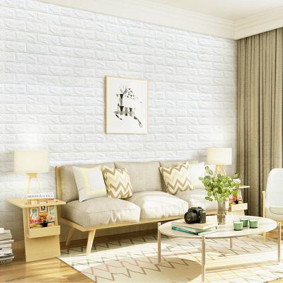 3D立體墻貼貼紙墻紙壁紙自粘電視背景墻客廳臥室宿舍護墻板兒童房裝飾防撞磚紋貼畫