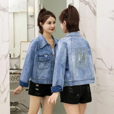 子沫雨JMOORY短款牛仔外套女裝寬松2020春季新款韓版學生bf百搭高腰夾克上衣