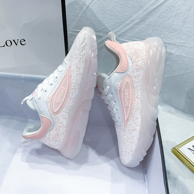 思可圖(SIKETU) 2020秋季舒適女士休閑鞋 女運動軟底透氣百搭網面學生帆布鞋