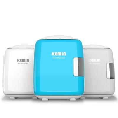 科敏KEMIN汽车车载冰箱4L小型家用化妆品制冷学生寝室宿舍mini面膜 2019款4L静音--白色(车家二用)