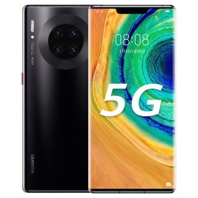 華為/HUAWEI Mate 30 Pro 5G 8GB+256GB 亮黑色 超曲面環幕屏 麒麟990智慧芯片 4000萬徠卡四攝 移動聯通電信5G全網通手機