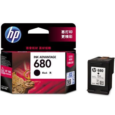 惠普(HP)F6V27AA 680黑色墨盒(適用HP DeskJet 2678 3638 3776 3838 3779)