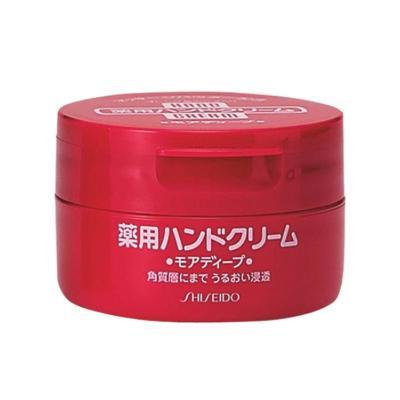 【深入角質 滋潤呵護】資生堂(Shiseido)旗下 HANDCREAM 美潤 藥用美肌護手霜 圓罐裝 100克