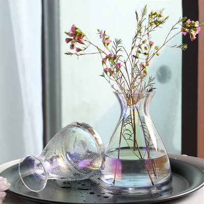 簡約現代極光花瓶插花創意家居餐廳電視柜水培花器小花瓶軟裝擺設