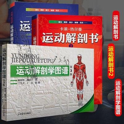 三册运动解剖学图谱+运动解剖书2 运动者受益一生的身体技能训练书+运动解剖书运动者重要读透身体技能解析书 经典的运动