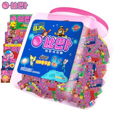 比巴卜泡泡糖混合瓶裝(經典系列)150粒多口味兒童零食品口香糖糖果批發