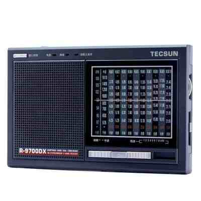 德生收音機 R-9700DX 鐵灰色 全波段老年人二次變頻立體聲半導體操作簡單指針式收音機