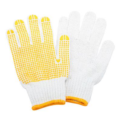 赛拓(SANTO)2081 点塑棉纱手套1副装 点珠点胶手套 工作司机开车防尘点珠手套