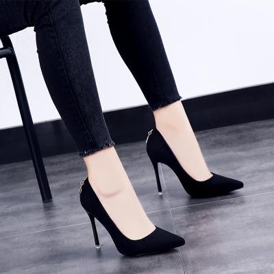 衫伊格shanyige 2018新款韩版春秋单鞋 高跟鞋 女 尖头 超高跟(>8厘米) 高跟鞋 细跟 女 女鞋 单鞋 女