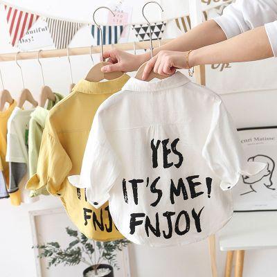 【精品好貨】男童長袖襯衫2020新款春裝春秋童裝兒童寶寶白色襯衣中小童上衣潮 邁詩蒙