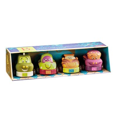比乐B.Toys回力车玩具车套装男孩软胶发条车惯性小汽车儿童玩具