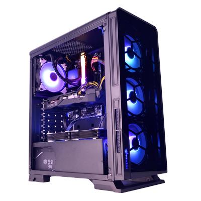 甲骨龍 明朗臺式機電腦U3水冷游戲側透ATX機箱支持背線