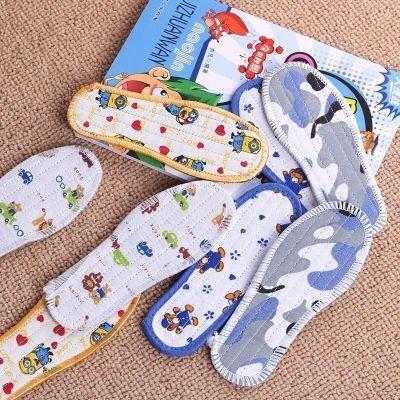 雪千寻5/10拼儿童布鞋垫防臭吸汗透气秋冬男童女童可爱加厚保暖鞋垫