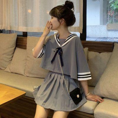 夏季日系校服jk水手服女學生韓版制服海軍風短款小清新女短裙套裝威珺