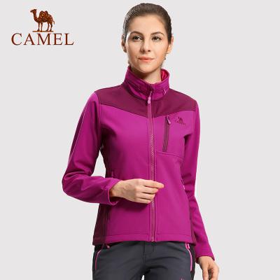 CAMEL骆驼户外软壳冲锋衣女款外套防风防水保暖防寒拉链开衫时尚外套