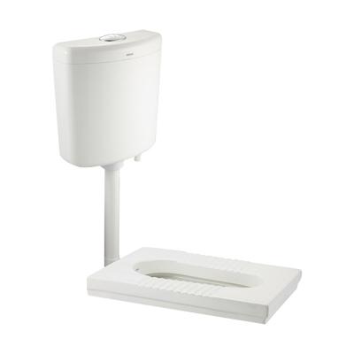 惠达(HUIDA)卫浴蹲坑蹲便器水箱套装整套蹲厕厕所方形防臭家用蹲便器组合