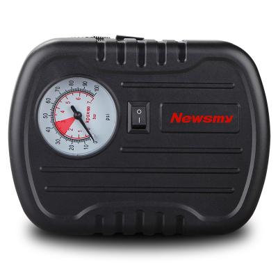 蘇寧自營 紐曼車載充氣泵C11黑色 車載應急點煙器接口自動加氣機便攜快充車載輪胎充氣床充氣泵