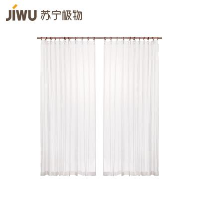 蘇寧極物 簡約素雅百搭平面窗紗窗簾 裝飾+半遮光