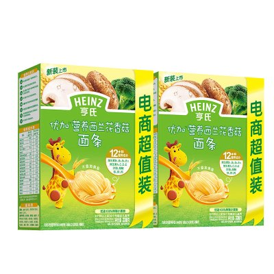 Heinz亨氏優加營養西蘭花香菇面條336g*2