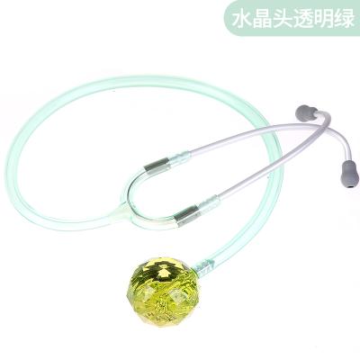 Spirit史必锐听诊器儿科医生专用专业医用心肺家用胎心孕妇动物头 水晶头透明绿