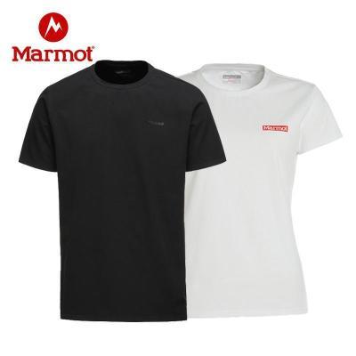 Marmot土拨鼠2019夏季户外质感棉料休闲透气男棉感短袖T恤