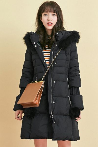 7M 2018新款冬季韓版時尚加厚白鴨絨保暖中長款羽絨服女70009383