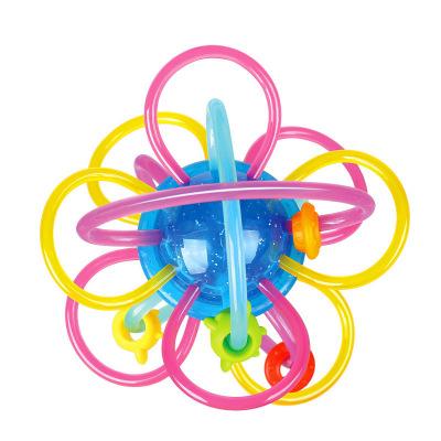 匯樂玩具(HUILE TOYS)星河牙膠球 619A 牙膠哈頓球搖鈴抓握玩具嬰兒寶寶手抓球磨牙