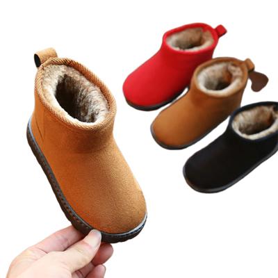 兒童短靴兒童雪地靴男童2019新款冬季加絨寶寶棉鞋保暖鞋子