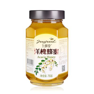 九蜂堂洋槐蜂蜜750g 槐花蜜 純正自然 源于蜂農自產蜂巢蜜 滋補蜂蜜 非百花蜜 自然成熟無添加