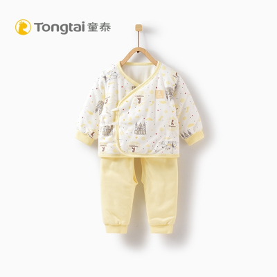 童泰新款新生儿衣服婴幼儿和服纯棉套装0-3月初生宝宝开档两件套