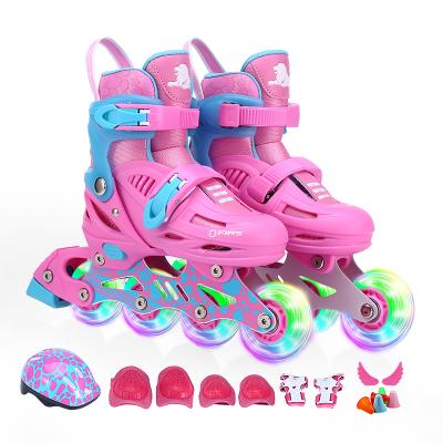 COUGAR美洲狮溜冰鞋儿童全套装3-5-6-8-10岁 八轮全闪小孩男女轮滑鞋直排轮休闲鞋