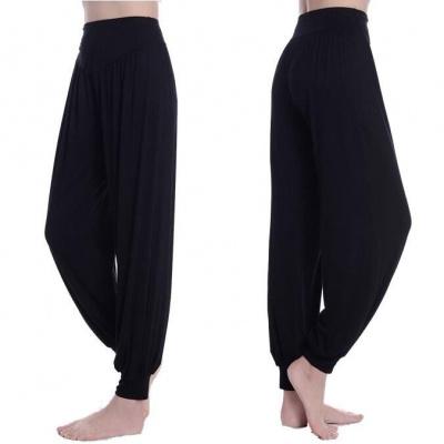 瑜伽褲女寬松莫代爾燈籠褲運動長褲廣場舞蹈服裝女學生9分練功褲串得起
