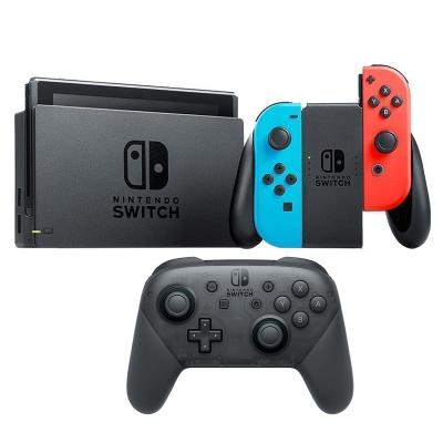 【手柄套餐】任天堂 Nintendo Switch 國行續航加強版紅藍主機 & Pro專業無線藍牙手柄