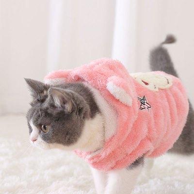 惠維貓衣服寵物秋冬裝保暖貓貓的小貓幼貓小型暹羅貓服裝可愛貓咪衣服多色多款多功能寵物用品寵物服飾及配件寵物服裝/雨衣