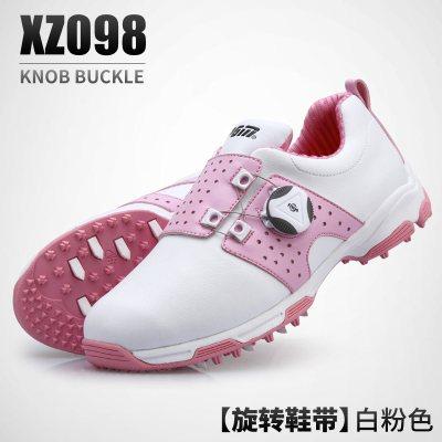 高爾夫球鞋 女士防水鞋子 旋轉鞋帶防側滑鞋釘運動鞋