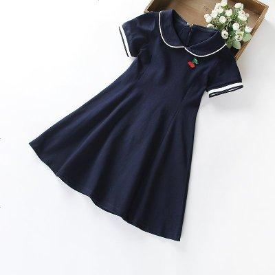 女童连衣裙新款中大童超洋气学院风岁儿童夏装运动裙子焱