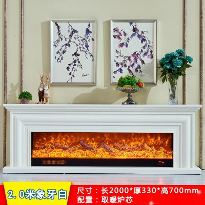 檀星星1.2/1.5米歐式壁爐 電視柜壁爐架 裝飾取暖LED壁爐芯線條美式壁爐