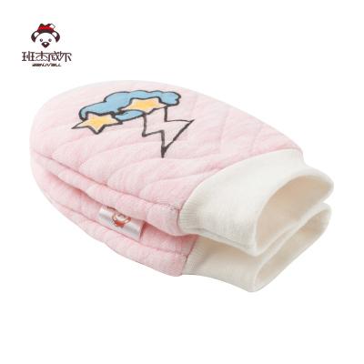 班杰威爾Banjvall嬰兒手套防抓新生兒0-6個月新生兒防抓臉手套冬季保暖寶寶手套