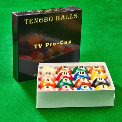 因樂思(YINLESI)TB騰勃臺球球子16球國產TV樹脂球美式黑8臺球九球子臺球桌球