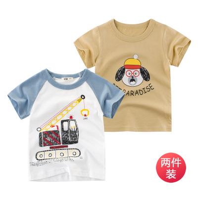 兩件裝 夏季童裝新款2020兒童短袖T恤寶寶上衣服裝ins元氣小猴STRONG MONKEY