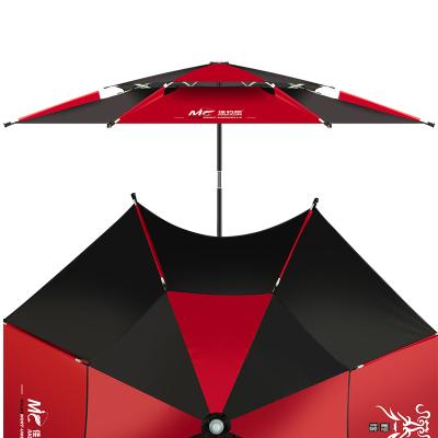 佳釣尼新款龍騰釣魚傘大釣傘加厚萬向魚傘雙層防暴雨防曬遮陽傘折疊傘2.0米/2.2米/2.4米
